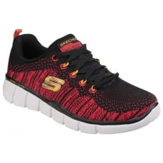 Skechers Equalizer 2.0: Perfect Game Black/Red Girls SK97370L