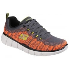Skechers Equalizer 2.0: Perfect Game Charcoal/Orange Girls SK97370L