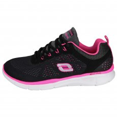 Skechers Equalizer New Milestone Sk11897 Black/Hot Pink Shoes