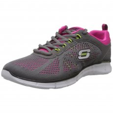 Skechers Equalizer New Milestone Sk11897 Grey/Pink Shoes
