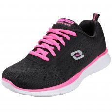 Skechers Equalizer True Form Black/Hot Pink Shoes