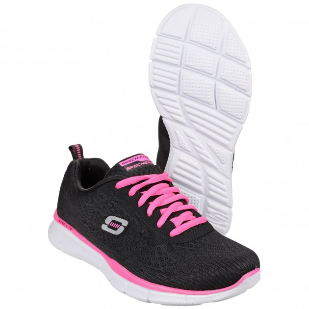 Skechers Equalizer True Form Black/Hot Pink Shoes