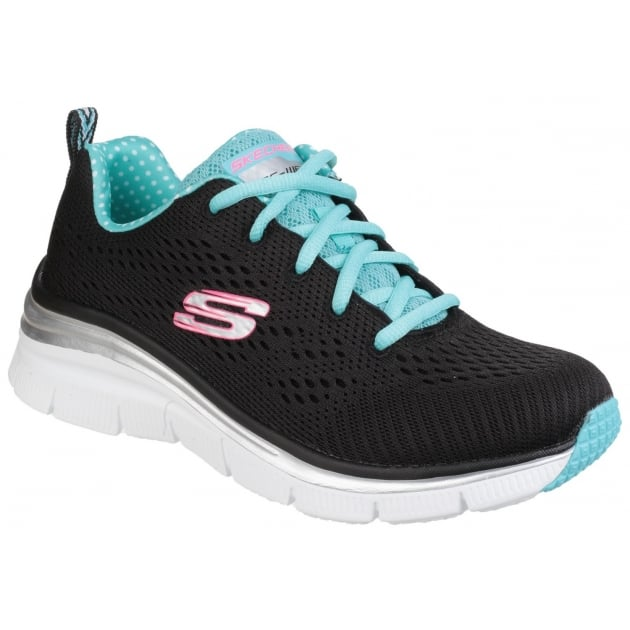 Skechers Fashion Fit - Statement Piece Lace Up Black/Turquoise SK12704