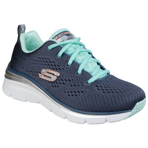 Skechers Fashion Fit - Statement Piece Lace Up Sports Shoe Slate Shoes
