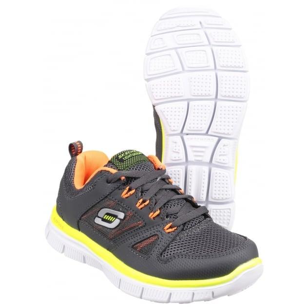 Skechers Flex Advantage Grey/Orange Boys SK95521L