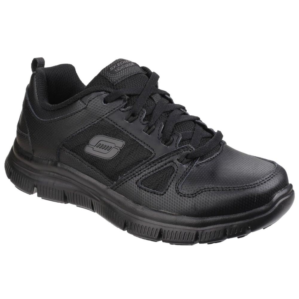skechers boys black shoes