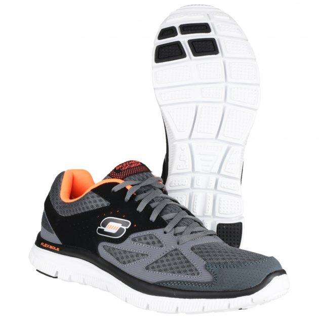 Skechers Flex Advantage Sk51252 Charcoal/Black Shoes