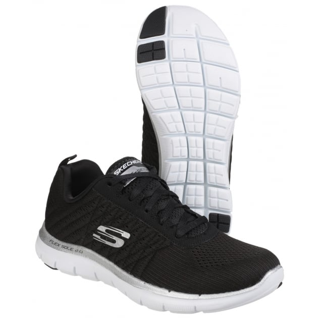 Skechers Flex Appeal 2.0 - Break Free Black/White SK12757
