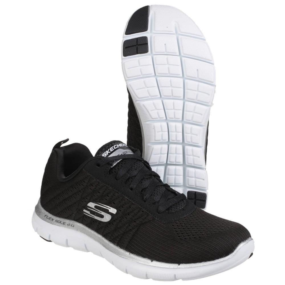 78f91cae47a Flex Appeal 2.0 - Break Free Lace Up Sports Shoe Black White Shoes ...