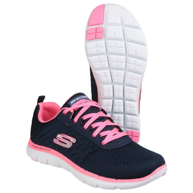 Skechers Flex Appeal 2.0 - Break Free Navy/Pink