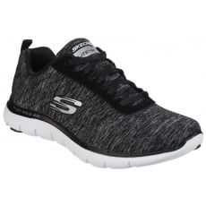 Skechers Flex Appeal 2.0 Lace Up Black/White SK12753