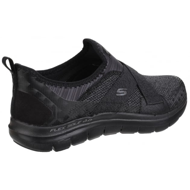 Skechers Flex Appeal 2.0 - New Image Slip On Sports Shoe Black Shoes
