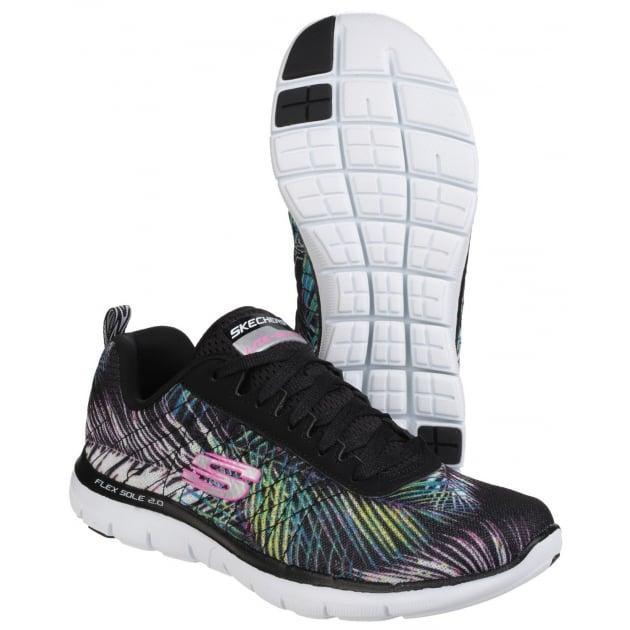 Flex Appeal 2.0 - Tropical Bree Lace Up Sports Shoe Black Multi Shoes