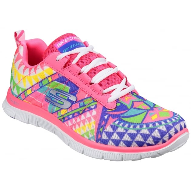 Skechers Flex Appeal Arrowhead Pink/Multi Shoes