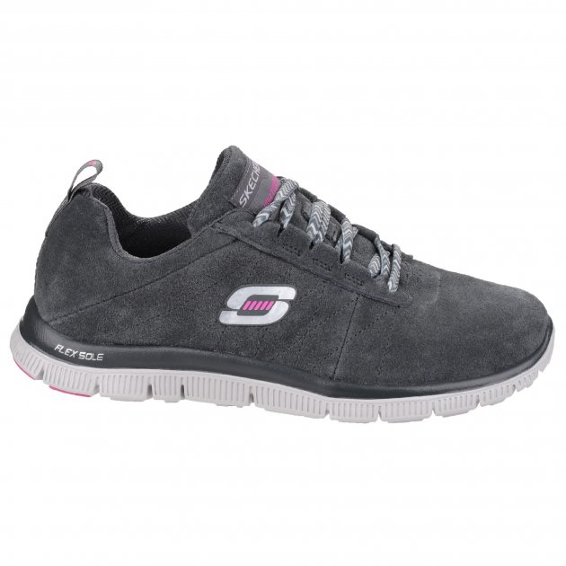 Skechers Flex Appeal Casual Way Charcoal Shoes