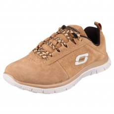 Skechers Flex Appeal Casual Way Tan Shoes