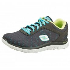 Skechers Flex Appeal First Glance Charcoal/Aqua Sports
