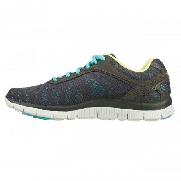 Skechers Flex Appeal First Glance Charcoal/Aqua Sports