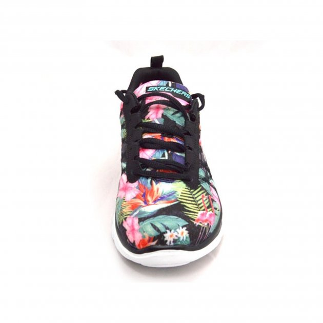 Skechers Flex Appeal Floral Bloom  Black/Multi Shoes