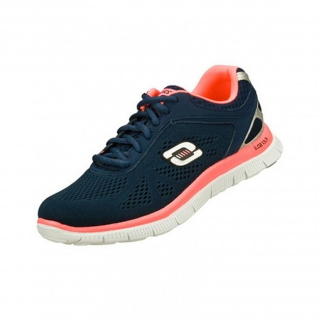 Skechers Flex Appeal - Love Your Style Sk11728 Navy/Hot Pink Shoes