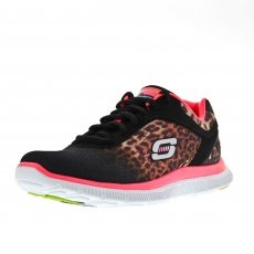 Skechers Flex Appeal - Serengeti Black/Hot Pink Shoes