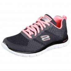 Skechers Flex Appeal Simply Sweet Grey/Pink Shoes