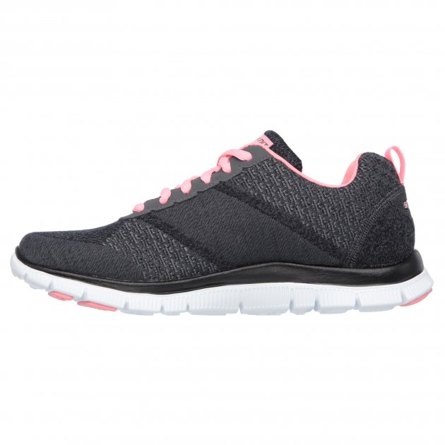 Skechers Flex Appeal Simply Sweet Grey/Pink Shoes