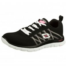 Skechers Flex Appeal Something Fun Black/White Sports