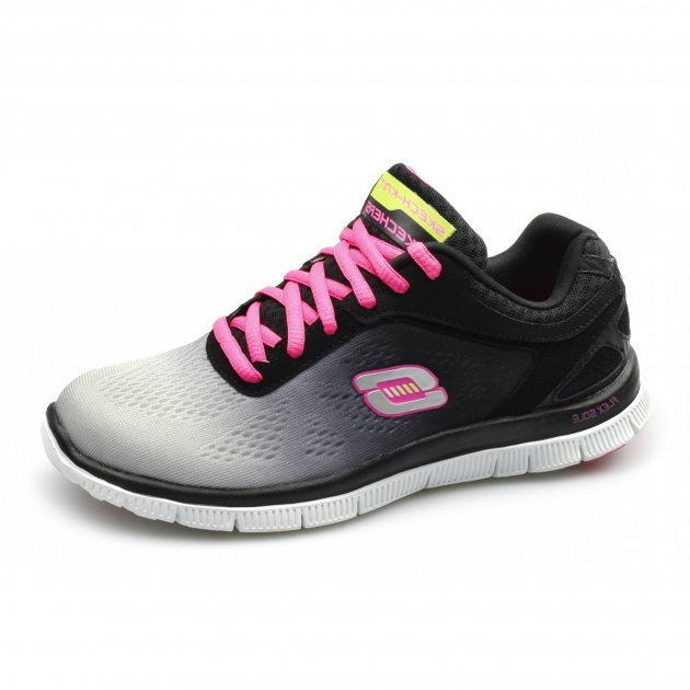 Skechers Flex Appeal Style Icon Sk11880 Black/Grey Shoes