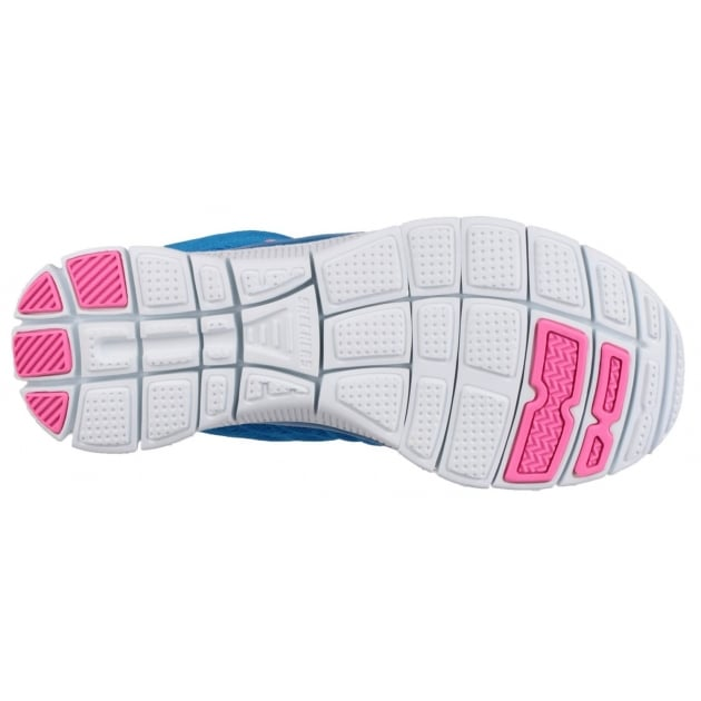 Skechers Flex Appeal - Sweet Spot Blue/Hot Pink