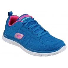 Skechers Flex Appeal - Sweet Spot Blue/Hot Pink Shoes