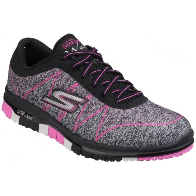 Skechers Go Flex - Ability Lace Up Black/Pink
