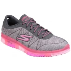 Skechers Go Flex - Ability Lace Up Grey/Pink