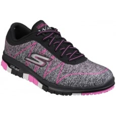 Skechers Go Flex - Ability Lace Up Sports Shoe Black/Pink Shoes