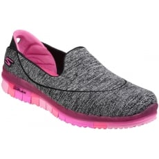 Skechers Go Flex Slip On Black/Pink