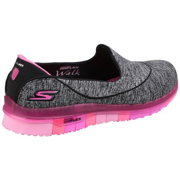 Skechers Go Flex Slip On Black/Pink