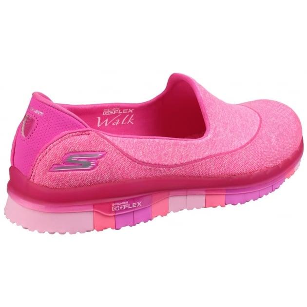 Skechers Go Flex Slip On Hot Pink