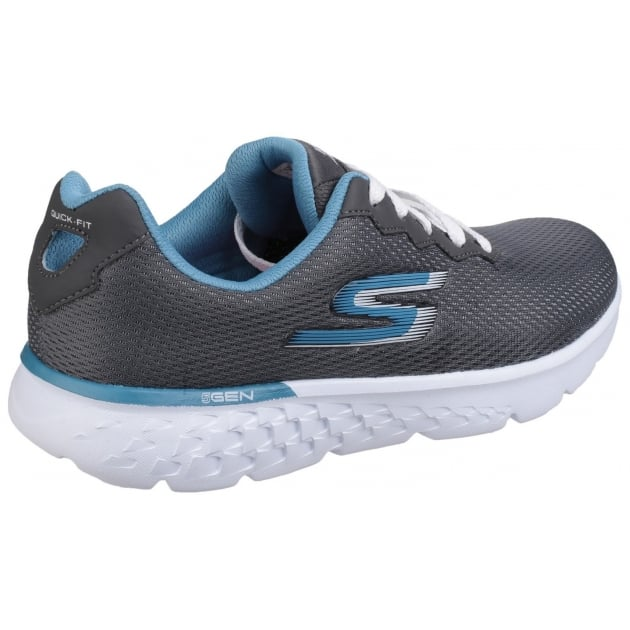 Skechers Go Run 400 - Action Lace Up Charcoal/Blue