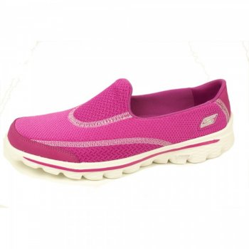 Skechers Go Walk 2 Raspberry Shoes