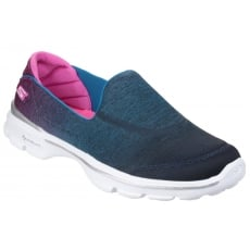 Skechers Go Walk 3 - Aura Blue/Pink