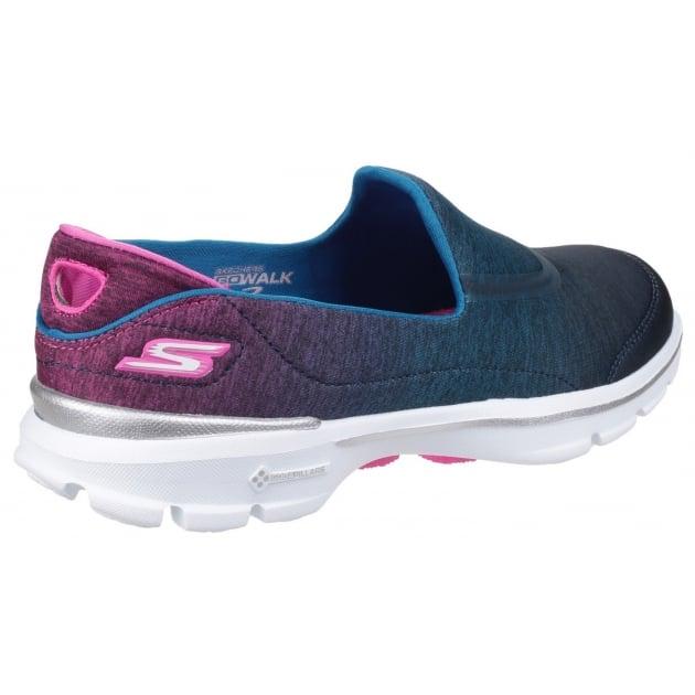 Skechers Go Walk 3 - Aura Blue/Pink
