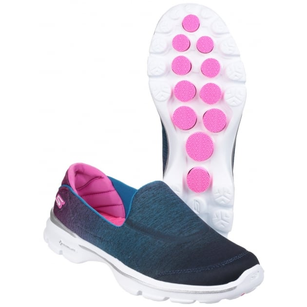Skechers Go Walk 3 - Aura Blue/Pink Shoes
