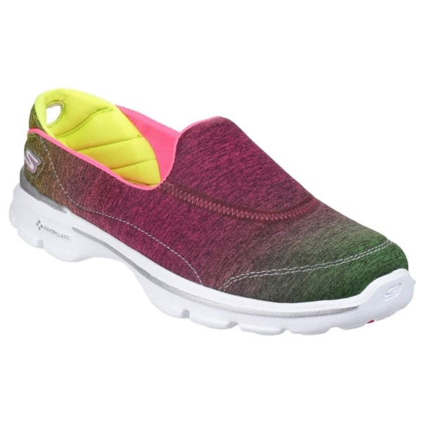 skechers go walk 3 aura s pink lime shoes free