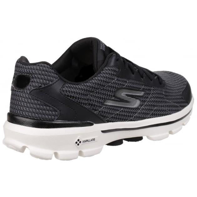 Skechers Go Walk 3 Fit Knit Black/White