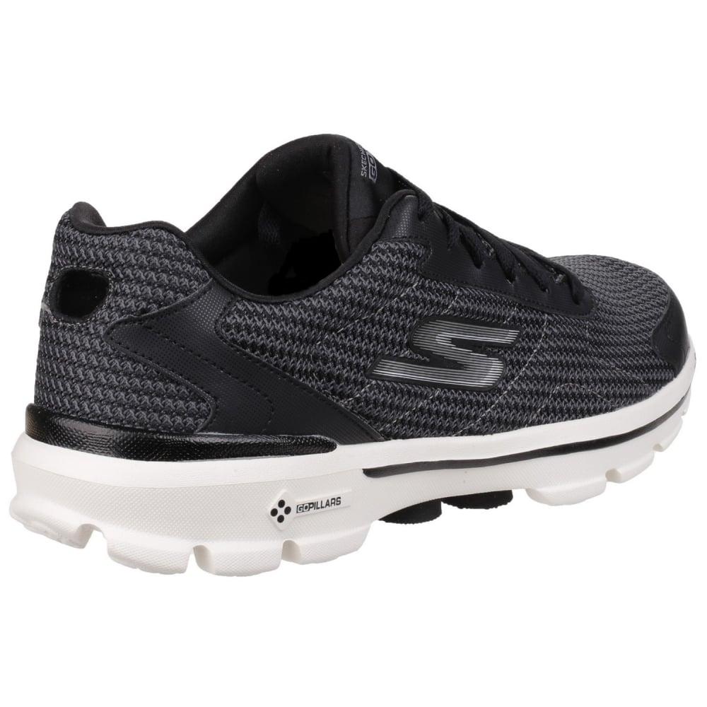 Skechers Go Walk 3 Fit Knit Men S Black White Sports
