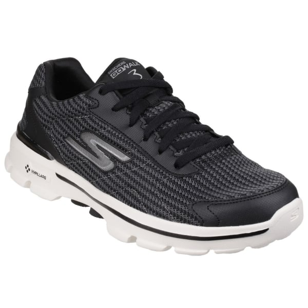 Go Walk 3 Fit Knit Black/White SK53981