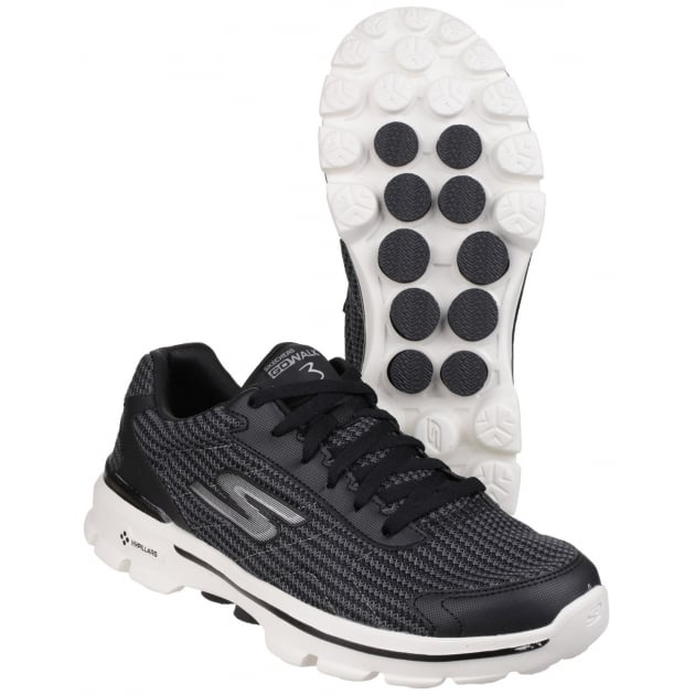 Skechers Go Walk 3 Fit Knit Black/White SK53981