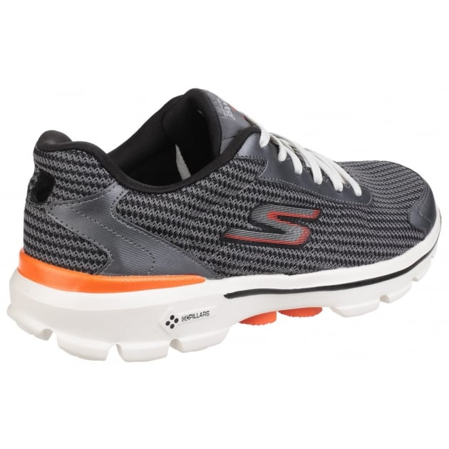 Skechers Go Walk 3 Fit Knit Charcoal/Orange