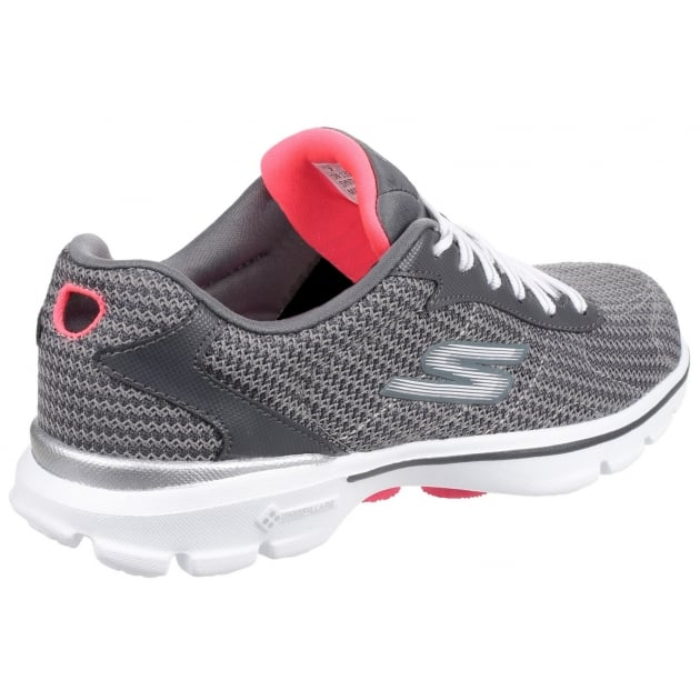 Skechers Go Walk 3 Fitknit Charcoal Shoes
