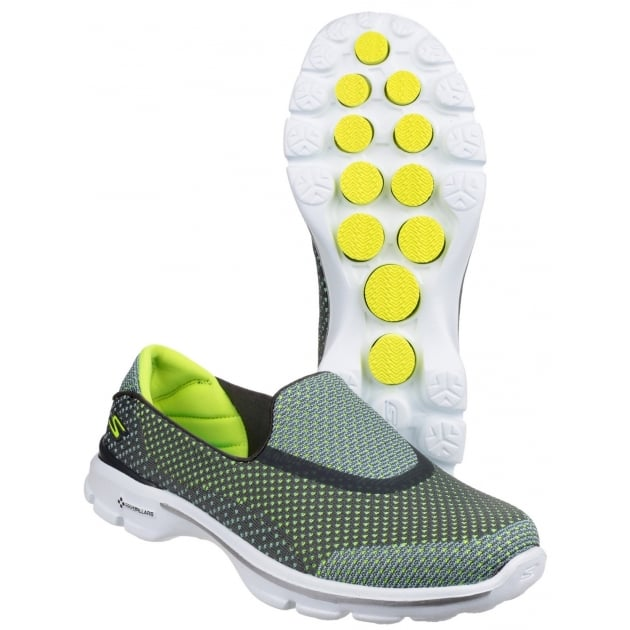 Skechers Go Walk 3 Go Knit Grey/Lime